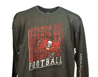 Tampa Bay Buccaneers NFL Majestic Grey Long Sleeve T-Shirt Men's Big & Tall