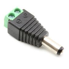Conector Macho RC 2.1 X 5.5MM DC Power Jack sin soldadura Fatshark FPV CCTV LED del ordenador portátil RC Quad