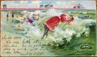 Heinz Pier, Atlantic City 1904 Advertising Private Mailing Card/Postcard-Bathing