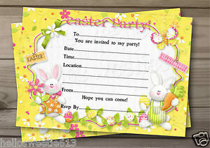 QUALITY EGGSTRA SPECIAL EASTER PARTY, EGG HUNT INVITATIONS OR THANK YOU CARDS