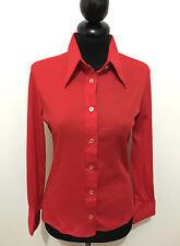 SARTORIA VINTAGE '70 Camicia Donna Blusa Jersey Woman Shirt Sz.XS - 38
