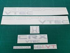 Honda CRX Vtec 1.6i-VT 16 valve JDM CR-X full Replacement Decals Stickers EE8