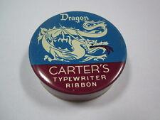 Vintage Carter's Dragon Typewriter Ribbon Advertising Collectible Tin