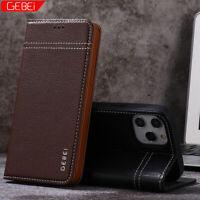 GEBEI Luxus PU Leder Wallet Klappetui Handy Hülle Für iPhone 12 Mini 11 Pro Max