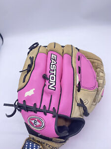 """EASTON Youth Glove #FPT12 Pink Right-Hand-Thrower RHT 12"""" Fastpitch Softball"""