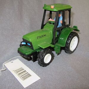 480D Toy Plastic Tractor Agricultural Farm Green L 5 5/16in