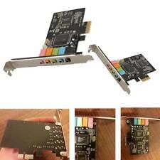 PCI Express PCI-E 5.1ch CMI8738 Audio-Soundkarte mit Low-Profile-Halterung ~~~