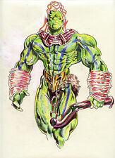 Atari PRIMAL RAGE Comic Original Pencil & Ink Color Sketch Art 1994 CHAOS Avatar