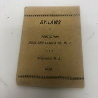 Ridgewood NJ 1899 By-Laws Protection Hook and Ladder Co No 1 Firemen's