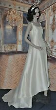 ATELIER AIMEE wedding dress gown designer SIZE 10 to 12 100% SILK made in ITALY
