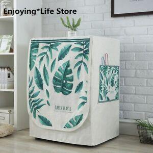 Dustproof Linen Washing Machine Covers Pockets Organizer Washer Lid Hosehold