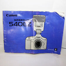 Used Canon Speedlite Flash 540EZ Instruction Manual Printed in Japan English EN