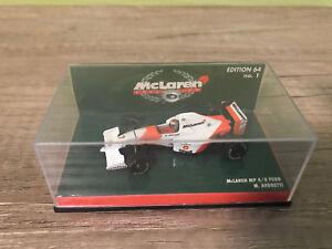 Minichamps F1 1/64 McLAREN FORD MP4/8 No. 1,  1993 - MICHAEL ANDRETTI * selten *
