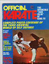 Official Karate Magazine, Oct. '73- Coverage Of The 3Rd Oriental Tournament