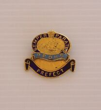 VINTAGE PLEASANT POINT DISTRICT HIGH SCHOOL PREFECT METAL BADGE COAT HAT PIN