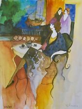 Itzchak Tarkay BEGRUDGING Signed Limited Edition Original Lithograph Art
