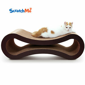ScratchMe Cat Scratcher Lounge Post Furniture Rest Sleep Scratching Cardboard