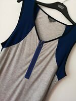 LADIES M&S LIMITED COLLECTION SIZE 18 COLOUR BLOCK SOFT STRETCH TOP FREE POST