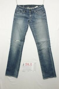 G-Star Corvet Straight Boyfriend Jeans Utilisé (Cod.J383) Tg.42 W28 L32 Femme