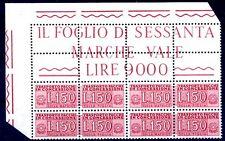 ITALIA - PACCHI CONCESSIONE L.150  BLOCCO ANGOLARE NUOVO **