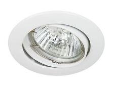 Spot encastrable 230V Blanc Orientable Ronde + ampoule 20W, 35W ou 50W de choix
