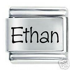 ETHAN Name - Daisy Charm by JSC Fits Classic Size Italian Charms Bracelet