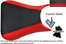 BLACK AND RED CUSTOM 03-05 FITS YAMAHA 600 YZF R6 REAL LEATHER SEAT COVER
