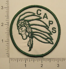 Vintage CAPS CHS Indian Chief Native American Emblem Embroidered PATCH
