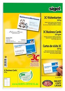 100 Sigel 3C Visitenkarten 225g weiß LP 795
