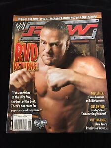 WWE RAW MAGAZINE FEB 2006 RVD CHAVO GUERRERO Wrestlemania