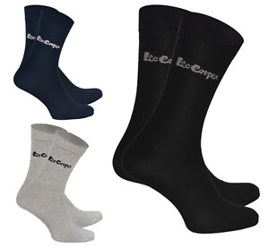 LEE COOPER 3er Pack Herren Socken Baumwolle Winter Crew Socks Stretch 3 Farben