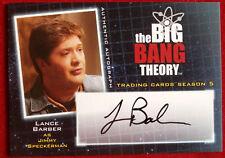 THE BIG BANG THEORY - LANCE BARBER as Jimmy Speckerman - Season 5 Autograph Card