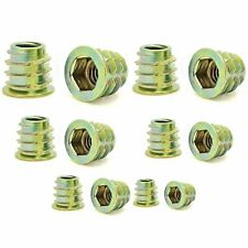 205 Qty Assorted Zinc Hex Flanged Threaded Inserts For Wood | 6 Sizes (BCP906)
