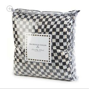 Retired Mackenzie Childs COURTLY CHECK Fine Cotton COMFORTER (Twin) NEW m21-jn