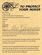 To Protect Your House, Book of Shadows Spells Page, Witchcraft, Wicca, BOS