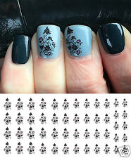 Sugar Skull Rose Bush Nail Art Waterslide Decals - Salon Quality!
