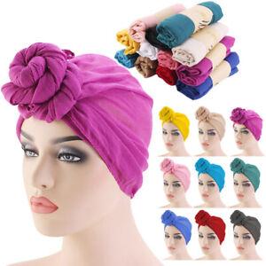 Women Muslim Knot Stretch Turban Hat Chemo Hair Long Head Scarf Wrap Hijab Cap