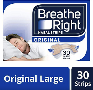Breathe Right Snoring Congestion Nasal Relief Original Large - 30 Strips