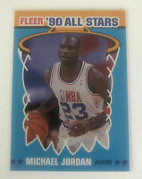 1990 90 Fleer All-Stars Michael Jordan #5 MINT BULLS HOF 📈🔥🔥