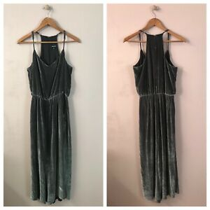 Madewell Dark Gray Velvet Jumpsuit Size S EUC