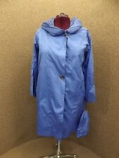 NEW NWT Plus Sz 20W Blue Water Resistant A-Line Hooded Windbreaker Jacket w/ Bag