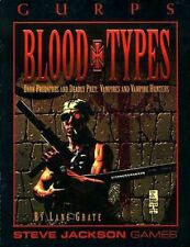 GURPS BLOOD TYPES VAMPIRES HUNTERS EXC+! Steve Jackson Games Sourcebook Undead