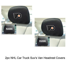 New NHL Philadelphia Flyers Car & Truck Embroidered Headrest Covers Set Of 2