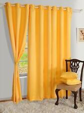 New Polyester 2 Piece Door Curtain Set - Yellow, 4 x 7 ft