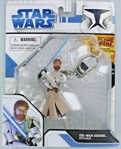 Star Wars OBI-WAN KENOBI Keychain Keyring Ben Jedi Clone Retired Saber Force S2
