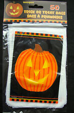 50 x HALLOWEEN Pumpkin Loot bags Treat Bags Party bags trick or treat FREE P&P