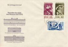 Ersttagsbrief DDR MiNr. 1286, 1289, 1290, Vermisste Gemälde