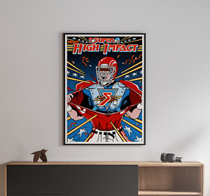 Super High Impact 1991 Football Midway Games Arcade Game Poster 18x24 inches