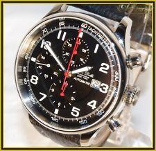 Automatik chronograph Alfons Daniels Valjoux 7750 con fondo de cristal va/ZC nuevo