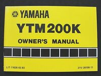 1982 YAMAHA 200 YTM200K ATV 3-WHEELER TRIKE OPERATORS OWNER'S MANUAL MINT SHAPE